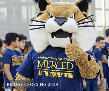 Rufus Bobcat, UC Merced mascot, welcomes new students!