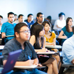Students in a UC Merced classroom