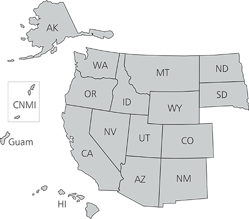 Map of Western United States