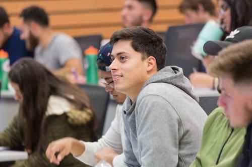 Student in Economics class