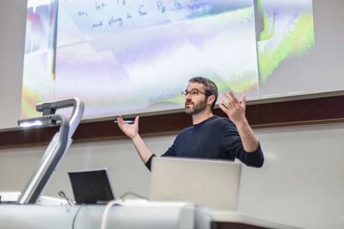 Professor Wright in Economics class
