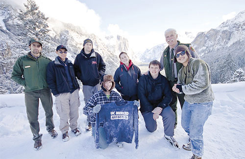 UC Merced students in Yosemite